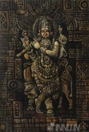 Fine art  - Divine Lord Krishna by ArtistMopasang Valath