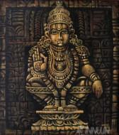 Fine art  - Divine Lord Ayyappaby ArtistMopasang Valath