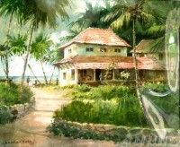 Fine art  - Beach Resort  by Artist Shankar Babu