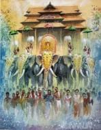 Fine art  - Thirissur Pooram Festival by ArtistShankar Babu