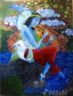 Fine art  - Dreaming Krishnaby ArtistJijo.T.Ponnu