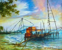 Fine art  -  Kochi chineese fishing net by Artist