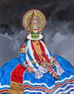 Fine art  - Kathakali portrait by Artist