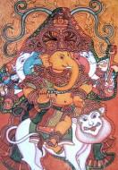 Fine art  - Ganapati and Lion Mural