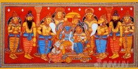 Fine art  - Ram and Sita with Hanuman