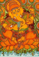 Fine art  - Ganapati Mural Art 3 by Artist