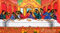 Fine art  - Last supper mural art by Artist