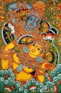Fine art  - Krishnan & Radha dance Mural