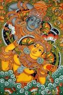 Fine art  - Krishnan & Radha dance Muralby Artist