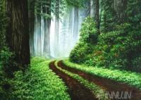 Fine art  - Off roading  path roadby Artist