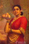 Fine art  - Maharashtra Lady by ArtistRaja Ravi Varma