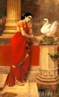 Fine art  - Hamsa Damayanthi1 by ArtistRaja Ravi Varma