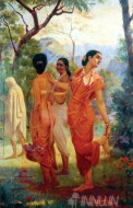 Fine art  - Sakunthala by ArtistRaja Ravi Varma