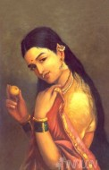 Fine art  - Lady with Fruit by ArtistRaja Ravi Varma