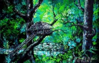 Fine art  - Tree hut by Artist Martin