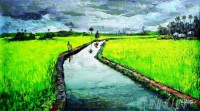 Fine art  - Paddy field by Artist Martin