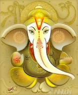 Fine art  - Lord Ganapathi 4 by Artist