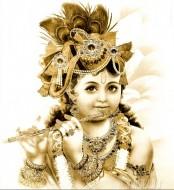 Fine art  - Lord Krishna playing flute