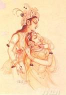 Fine art  - Radha and Krishna 4by ArtistBG Sharma
