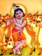 Fine art  - Lord Krishna with flute