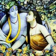 Fine art  - Krishnan and Radha 8 by Artist