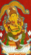 Fine art  - Ganapathi Mural 1 by Artist