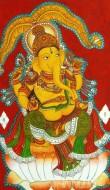 Fine art  - Ganapathi Mural 1