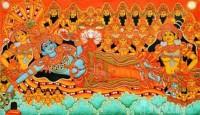 Fine art  - Mural Mahavishnu Ananthasayanam 1