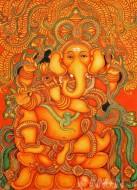 Fine art  - Ganapathi Mural 7