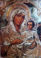 Fine art  - Mother Mary with child Jesus by Artist