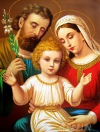 Fine art  - Joseph Mary and child Jesus. by Artist