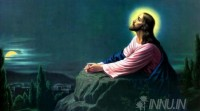 Fine art  - Jesus Christ praying to the father by Artist