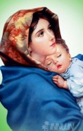 Fine art  - Mother Mary with child Jesus 4 by Artist