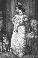 Fine art  - Kerala lady with child  by Artist Mahesh