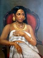 Fine art  - The Reluctant Princessby ArtistRaja Ravi Varma
