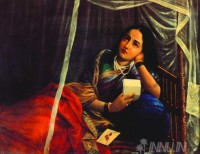 Fine art  - Women Disappointing by Artist Raja Ravi Varma