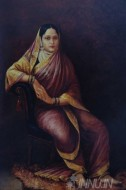 Fine art  - Maharani Chimnabai of Baroda by ArtistRaja Ravi Varma