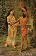 Fine art  - Vishwamitra and Menaka by ArtistRaja Ravi Varma