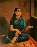 Fine art  - Lady juggler  by ArtistRaja Ravi Varma