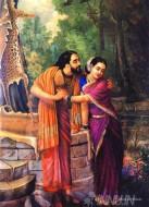 Fine art  - Arjuna and Subhadra by ArtistRaja Ravi Varma