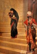 Fine art  - Draupadi sadly serves as a handmaiden in the court of Kichaka by ArtistRaja Ravi Varma