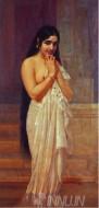 Fine art  - Fresh from Bath by ArtistRaja Ravi Varma