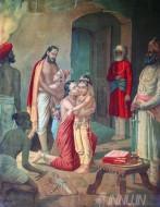 Fine art  - Sri Krishna Liberating His Parents by ArtistRaja Ravi Varma