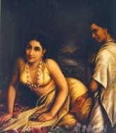 Fine art  - Damayanthi  by ArtistRaja Ravi Varma