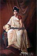 Fine art  - Malabar Lady 2 by ArtistRaja Ravi Varma
