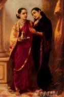Fine art  - Draupadi and Sudheshna by ArtistRaja Ravi Varma