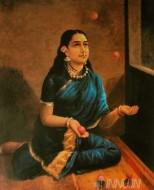 Fine art  - Lady juggler 2 by ArtistRaja Ravi Varma
