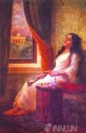 Fine art  - In Contemplation by ArtistRaja Ravi Varma