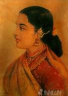 Fine art  - Lady with Jewels by ArtistRaja Ravi Varma