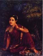 Fine art  - Radha Waiting for Krishna 2 by ArtistRaja Ravi Varma